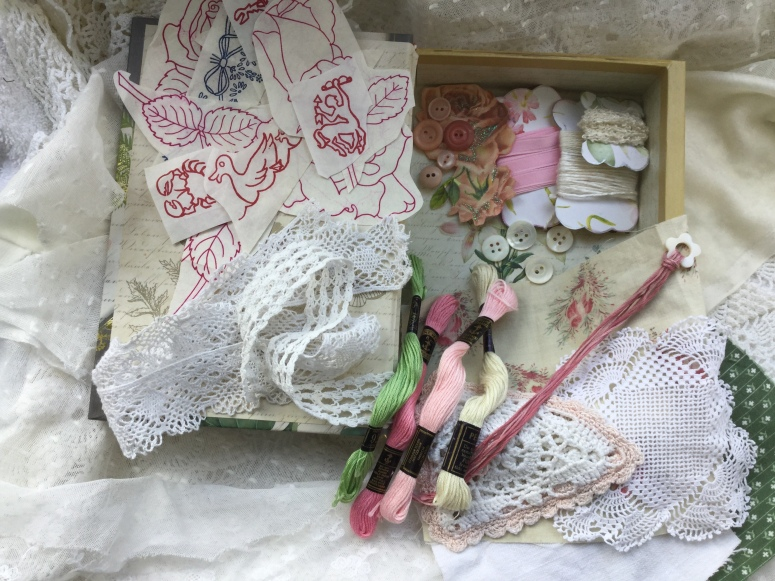 Keepsake box with contents